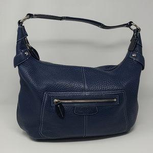 Coach Penelope  Peebled Leather Blue Hobo Bag